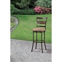 Hillsdale Indoor/Outdoor Stools Swivel Bar Stool with Ladderback
