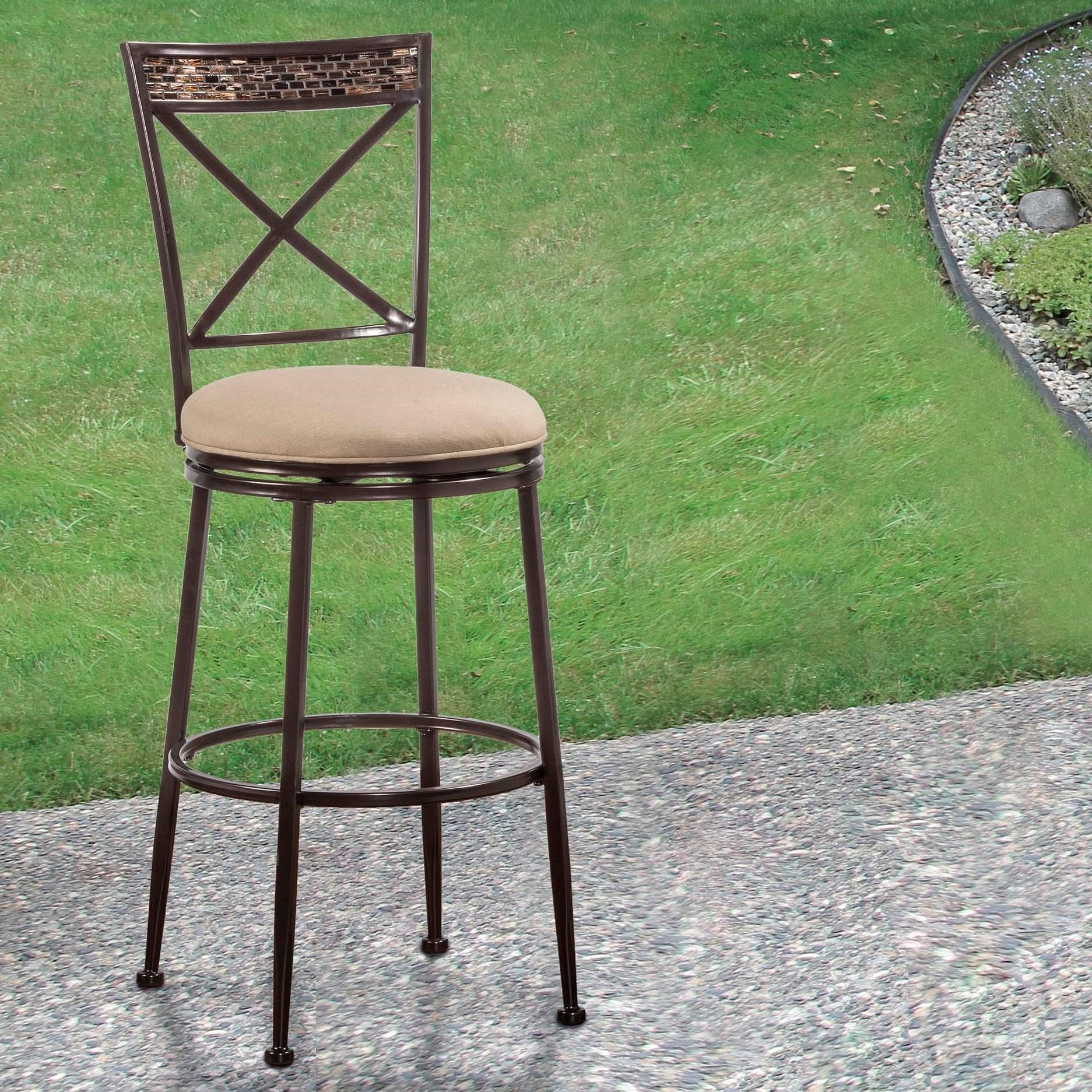 Indoor Outdoor Stools Swivel Counter Stool With X Back