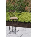Hillsdale Indoor/Outdoor Stools Swivel Bar Stool with X-Back