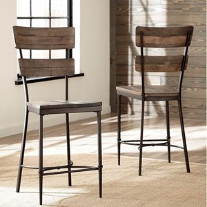 Non-swivel Counter Height Stool - Set of 2