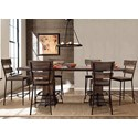 Hillsdale Jennings 7-Piece Counter Height Dining Set - Item Number: 4022-835-836+3X822