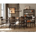 Hillsdale Jennings Dining Room Set - Item Number: 4022DTB7PC