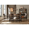Hillsdale Jennings Industrial Dining Room Set with Seven Chairs