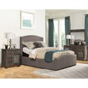 Hillsdale Kerstein California King Upholstered Adjustable Storage Bed Set With Nail-Head Trim