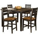 Hillsdale Killarney 5 Piece Counter Height Table & Stool Set - Item Number: 5381CTBSL5