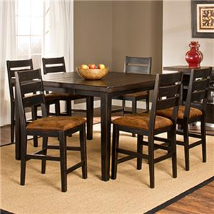 Morris Home Furnishings Killarney 7 Piece Counter Height Table & Stool Set