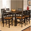 Hillsdale Killarney 7 Piece Counter Height Table & Stool Set - Item Number: 5381CTBSL7