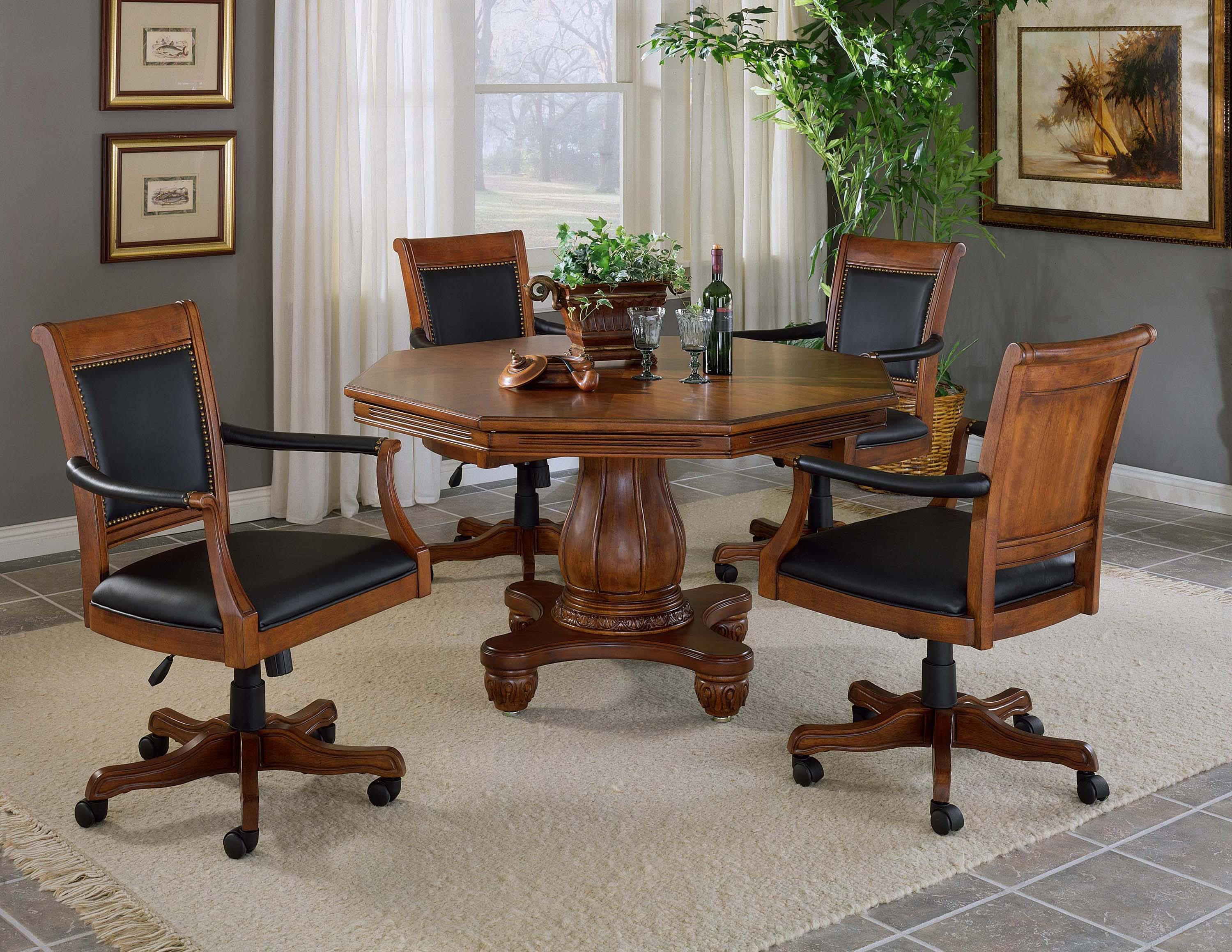 Hillsdale Kingston Game Set with Leather Chairs - Item Number: 6004GTBC