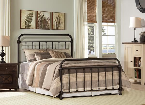 Kirkland King Metal Bed by Hillsdale at Johnny Janosik