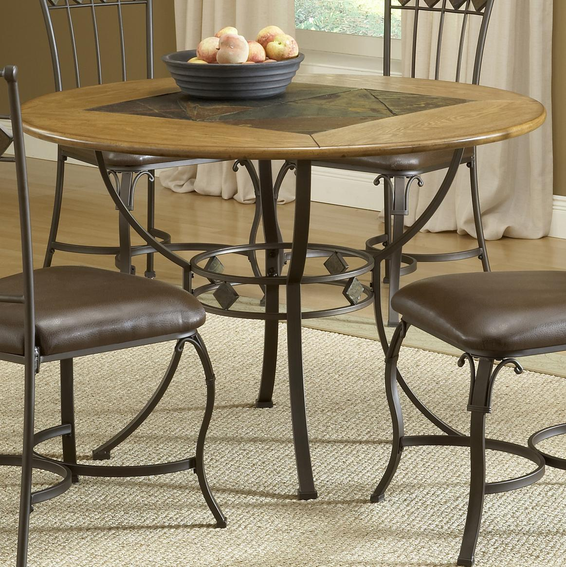 Hillsdale Lakeview Round Wood & Stone Top Dining Table - Item Number: 4264DTBRD