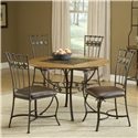 Hillsdale Lakeview 5-Piece Round Dining Set w/ Slate Chairs - Item Number: 4264DTBRDCS