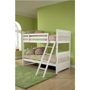 Morris Home Furnishings Lauren  Twin Bunk Bed