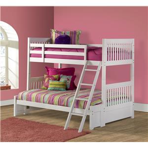 Morris Home Furnishings Lauren  Twin/Full Bunk Bed