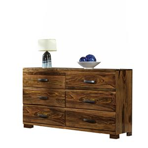 Morris Home Madera Dresser with 6 Drawers