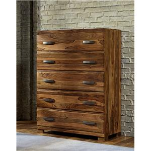 Morris Home Furnishings Madera Chest with 5 Drawers
