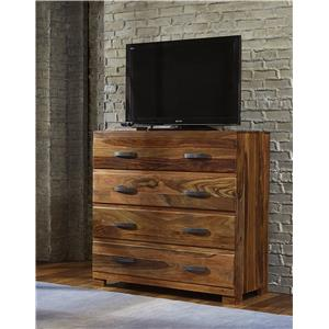 Morris Home Furnishings Madera Media Chest with 4 Drawers