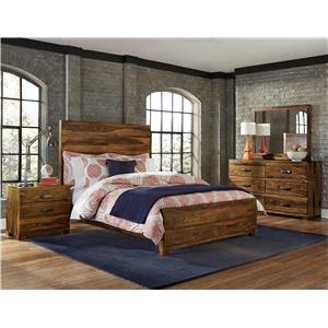 Morris Home Furnishings Madera 4-Piece Platform Bedroom Set - Queen