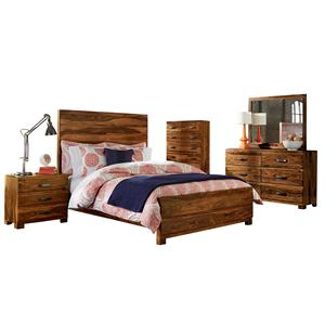 Morris Home Furnishings Madera 5-Piece Platform Bedroom Set - Queen