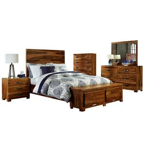 Morris Home Furnishings Madera 5-Piece Storage Bedroom Set - Queen