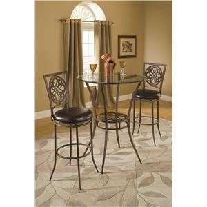 Hillsdale Marsala Bar Height Bistro Dining 3 Piece Set