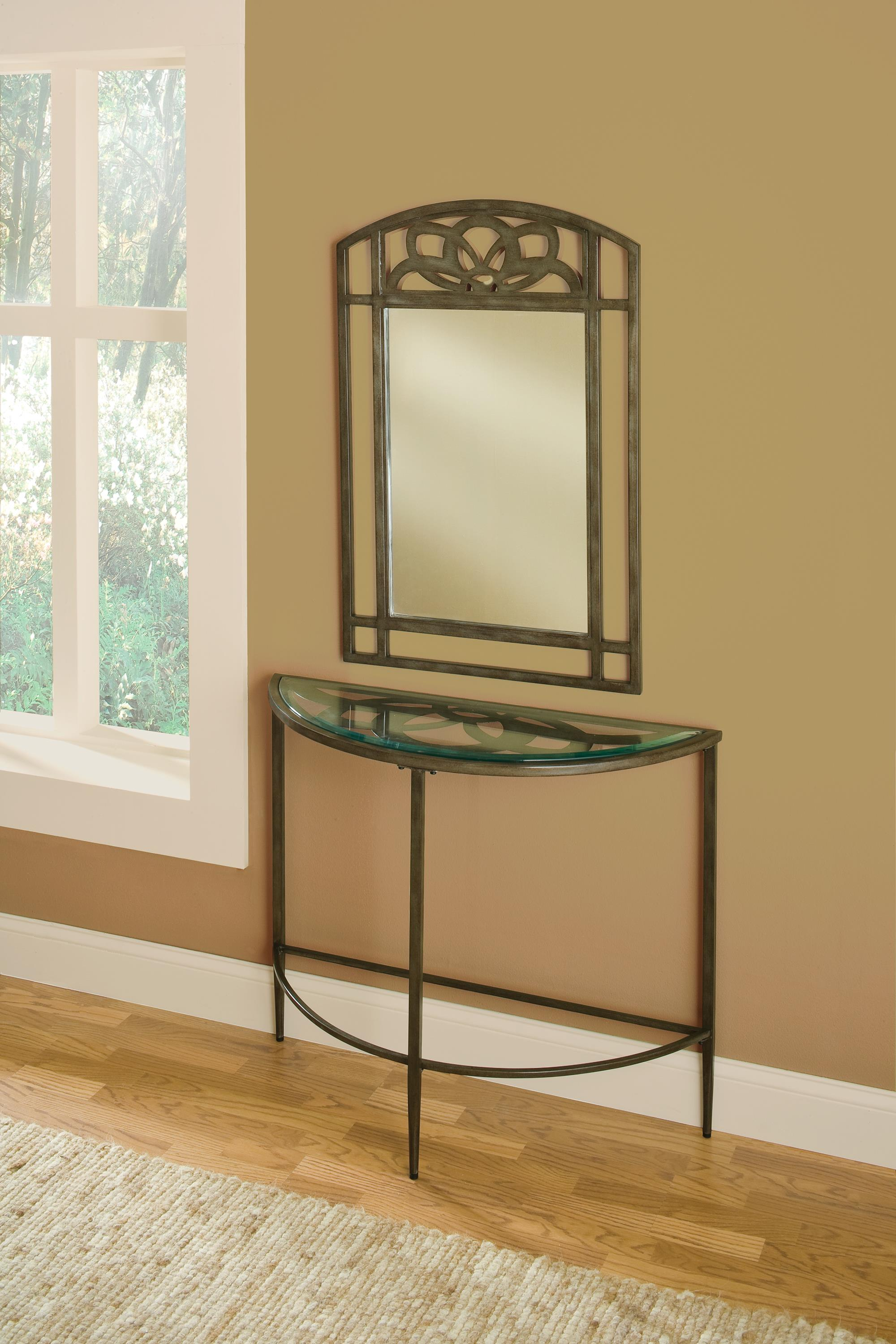 Hillsdale Marsala Console Table and Mirror - Item Number: 5497OTS