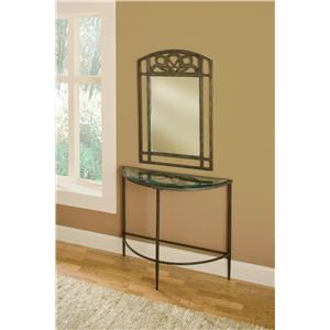 Morris Home Furnishings Marsala Console Table and Mirror