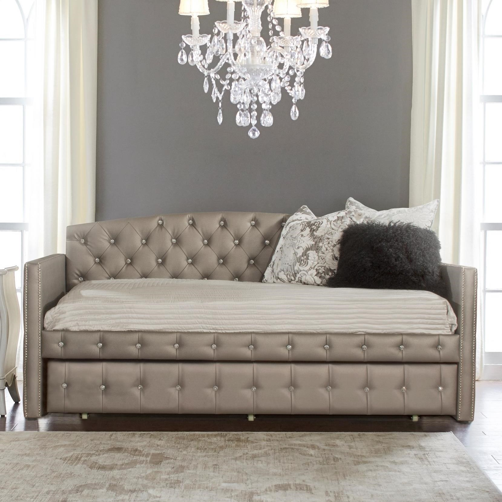 Hillsdale Memphis Bed Upholstered Daybed With Diamond