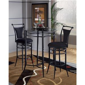 Morris Home Furnishings Mix N Match Cierra 3-Piece Bistro Set - Black