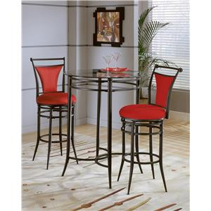 Hillsdale Mix N Match Cierra 3-Piece Bistro Set- Flame