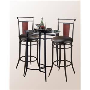 Hillsdale Mix N Match Midtown 3-Piece Bistro Set