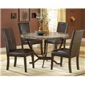 Morris Home Furnishings Monaco Round Dining Table - Shown with Side Parsons Chairs