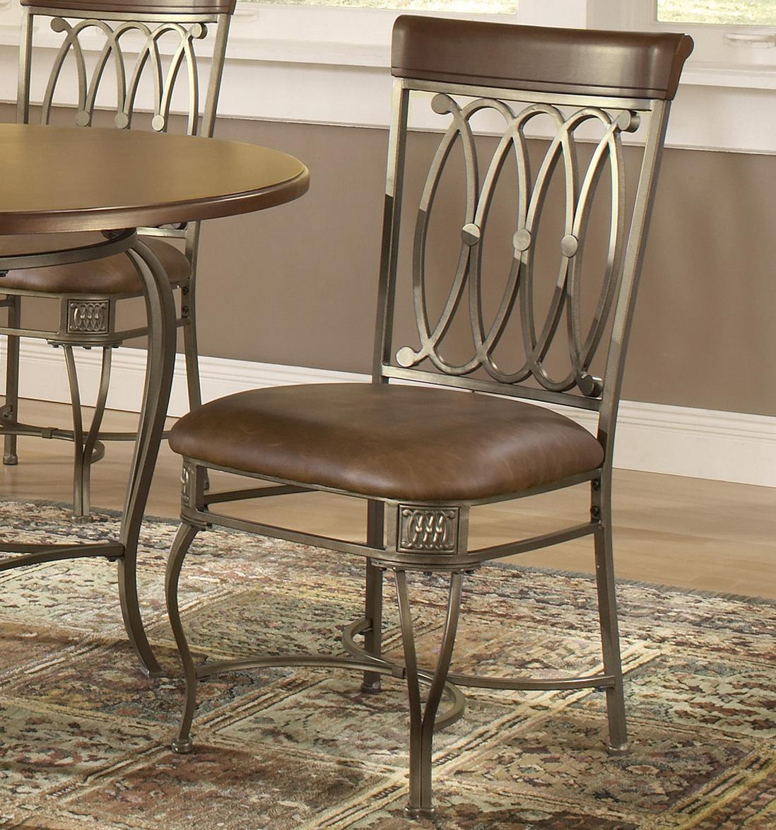 Hillsdale Montello Dining Chair with Brown Faux Leather - Item Number: 41543