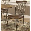 Hillsdale Montello Dining Chair with Brown Faux Leather - 41543