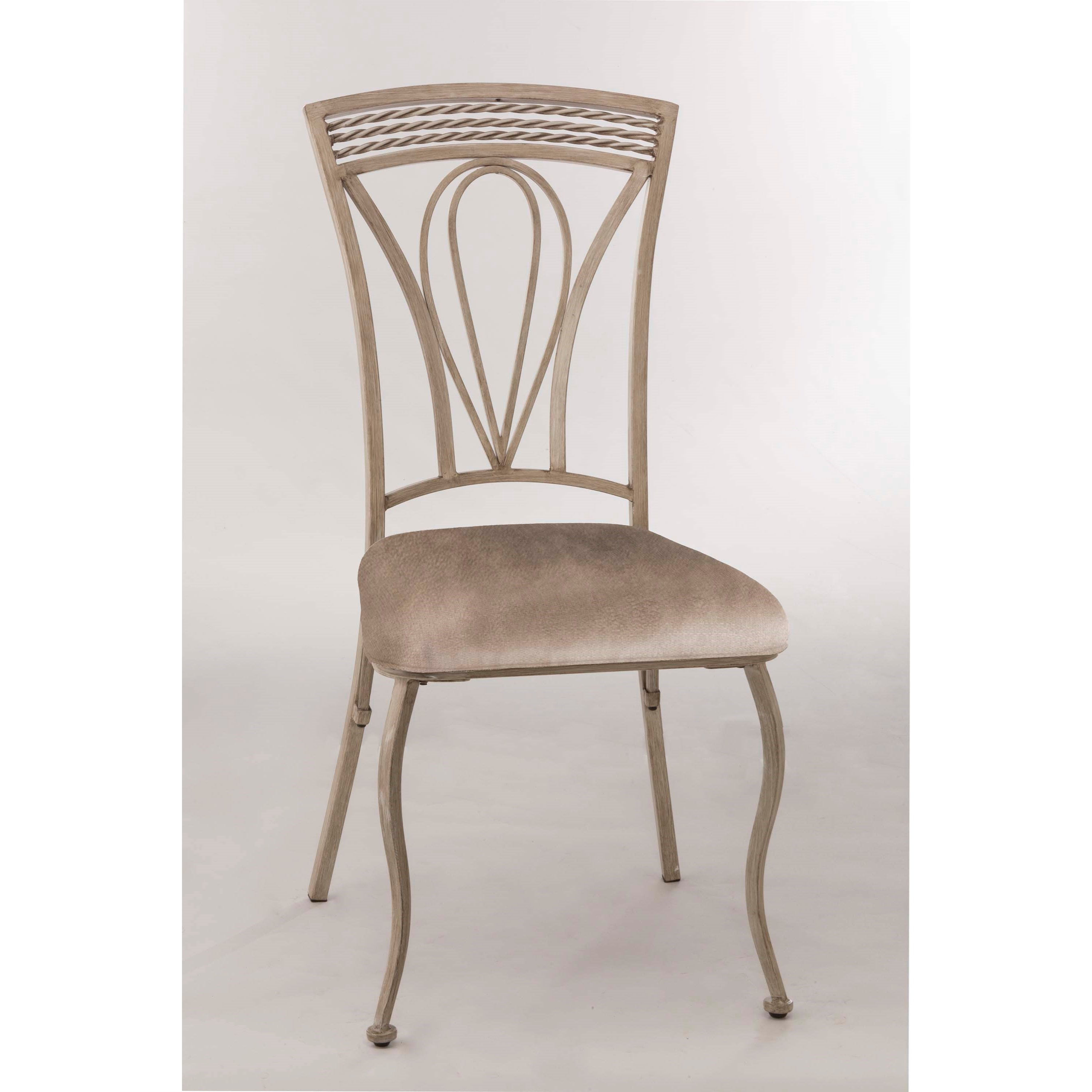 Hillsdale Napier Metal Dining Side Chair With Upholstered Seat Wayside Furniture Dining Side