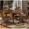 Morris Home Furnishings Nassau Nassau Single Pedestal Game Table - Shown with Chairs