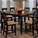 Hillsdale Northern Heights Counter Height Dining Table - Item Number: 4439-835W