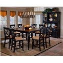 Hillsdale Northern Heights Rectangle Counter Height Dining Table