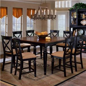 Morris Home Furnishings Northern Heights Nine Piece Counter Heigth Dining Set
