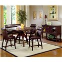 Hillsdale Nottingham Expressive Counter Height Dining Chair - Shown with Timeless Counter Height Dining Table, Nottingham Counter Height Dinner Bench and Matching Server