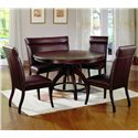 Hillsdale Nottingham Timeless Round Dining Table - Shown with Expressive Dining Side Chairs and Nottingham Dinner Bench