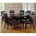 Hillsdale Nottingham Timeless Round Dining Table - Shown with Expressive Dining Side Chairs