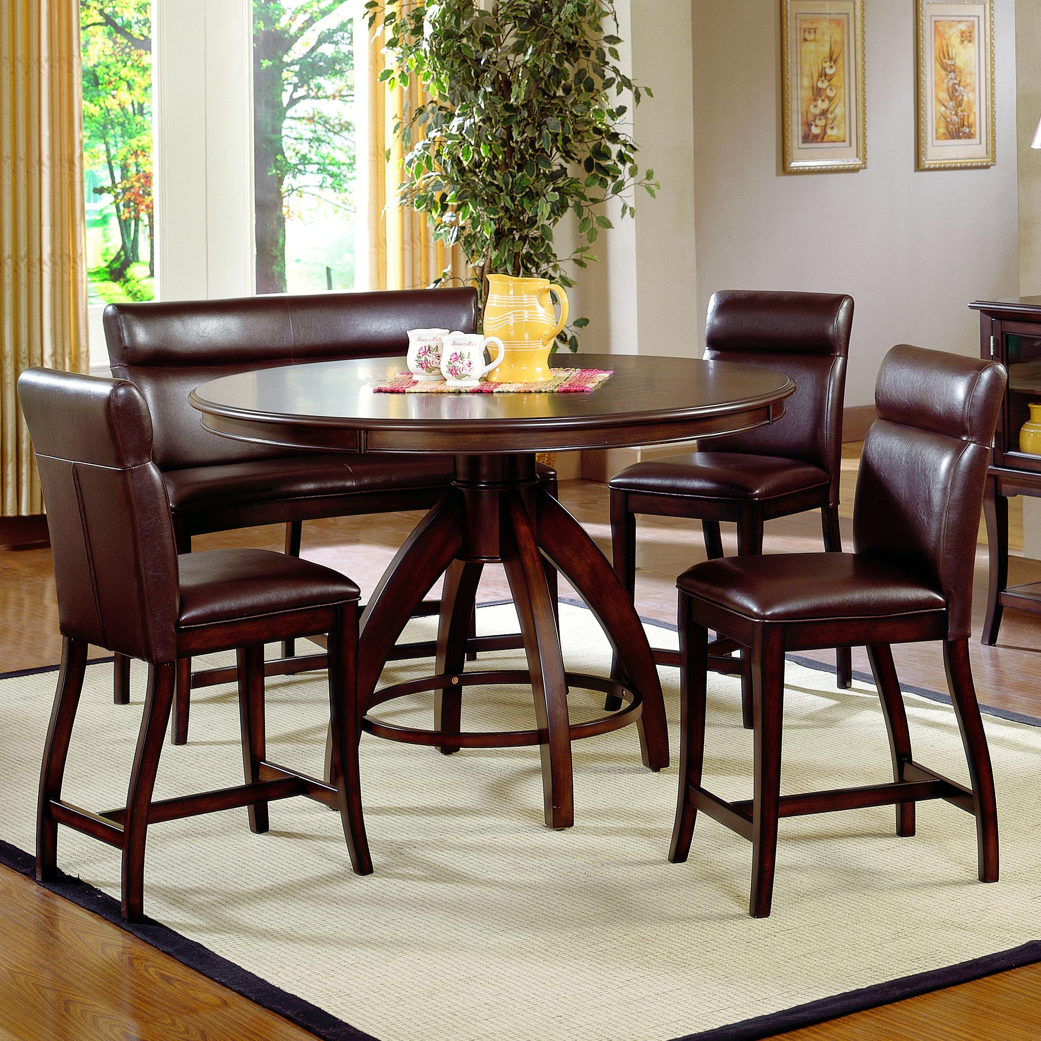 Hillsdale Nottingham 5 Piece Counter Height Dining Set - Item Number: 4077DTBCG