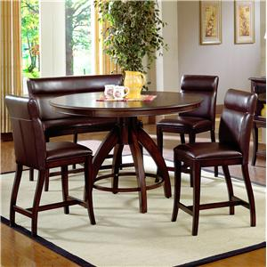Morris Home Furnishings Nottingham 5 Piece Counter Height Dining Set