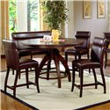 Morris Home Furnishings Nottingham 5 Piece Counter Height Dining Set - Item Number: 4077DTBCG