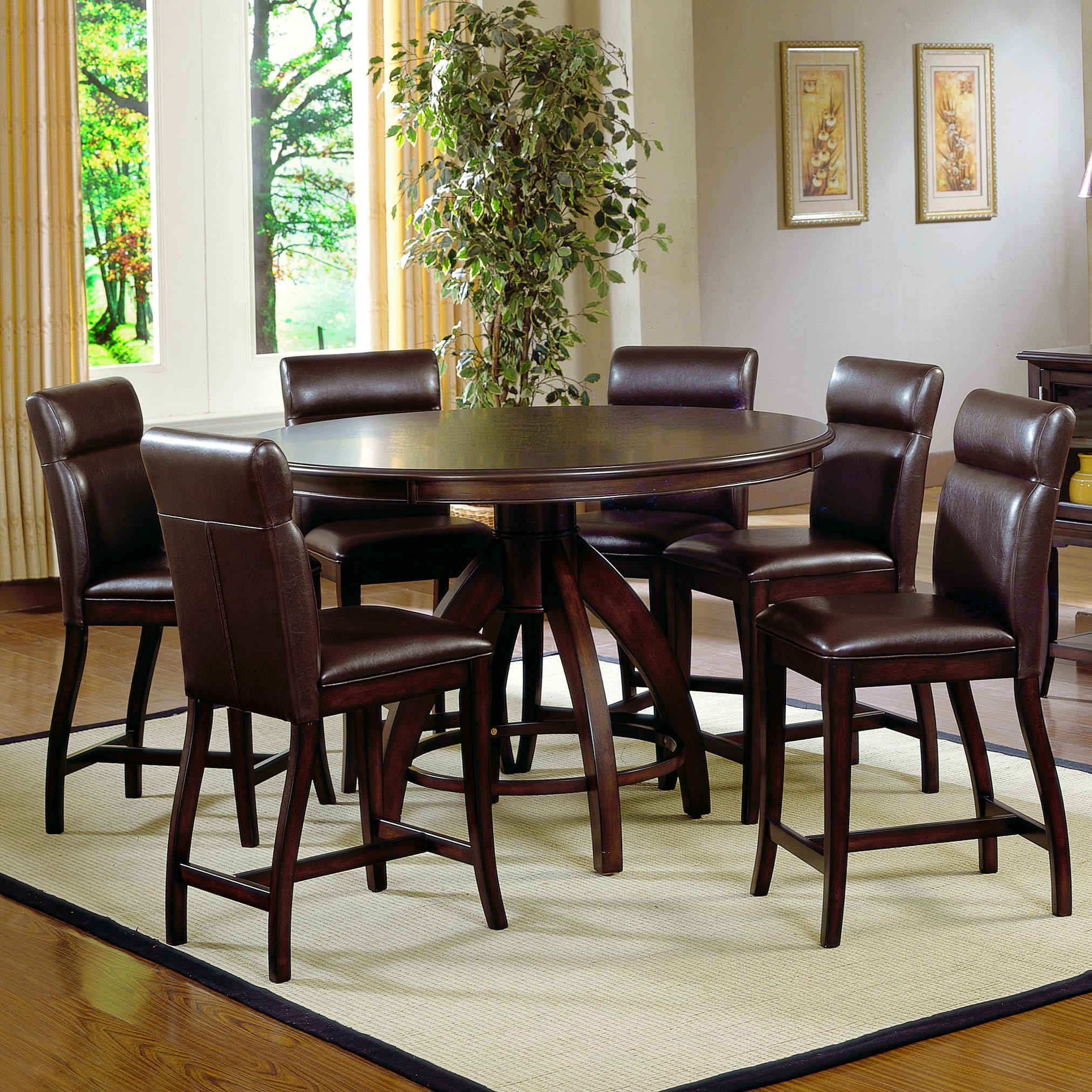 Hillsdale Nottingham 7 Piece Counter Height Dining Set - Item Number: 4077DTBCGS7