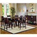 Hillsdale Nottingham 7 Piece Timeless Counter Height Dining Set - Shown with Matching Server