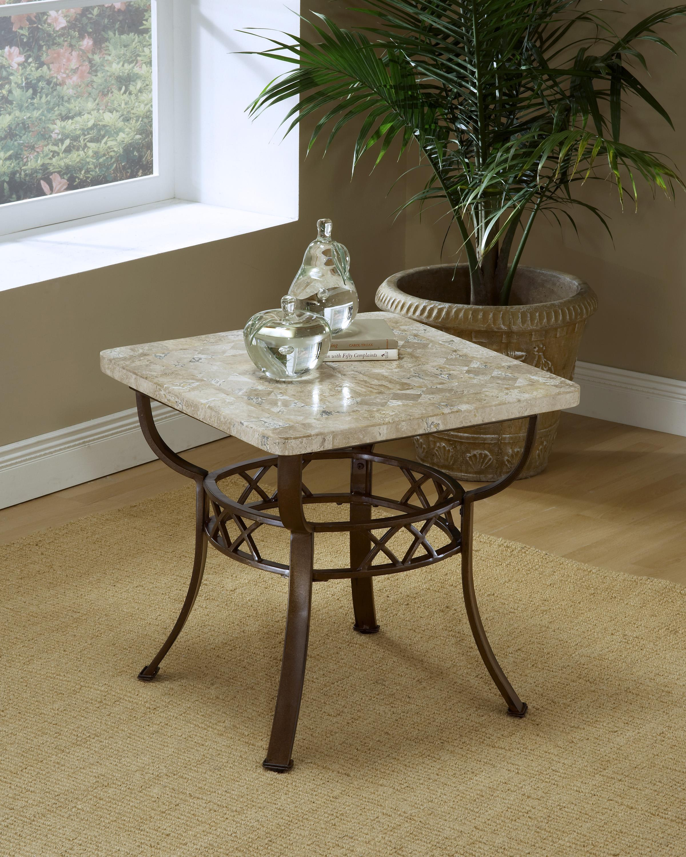 Hillsdale Occasional Tables Brookside Fossil End Table - Item Number: 4815OTE