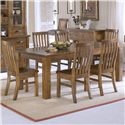 Morris Home Furnishings Outback Rectangular Dinner Leg Table - Shown with Side Chairs