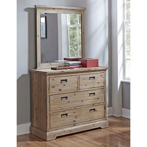 Hillsdale Oxford Dresser and Mirror Set