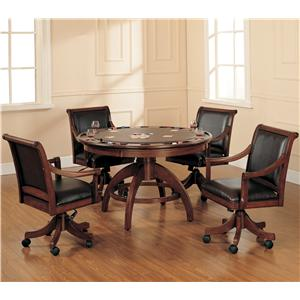 Hillsdale Palm Spring 5 Piece Game Table and Chairs Set